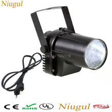 Niugul HOT White color LED Pinspot /DJ Spot Beam disco light/mini led Stage Party Bar Effect  lighting/ ktv dj wedding lights