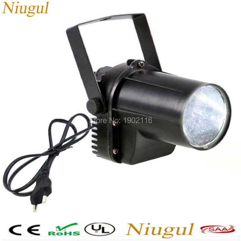 Niugul HOT White color LED Pinspot light/DJ Spot Beam disco light/mini led Stage Party Bar Effect lighting/ktv dj wedding lamp
