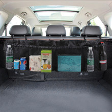 Organizador tronco do carro banco traseiro saco de armazenamento net para jeep renegado wrangler jk jl grand cherokee compass mni cooper r56 r50 r53