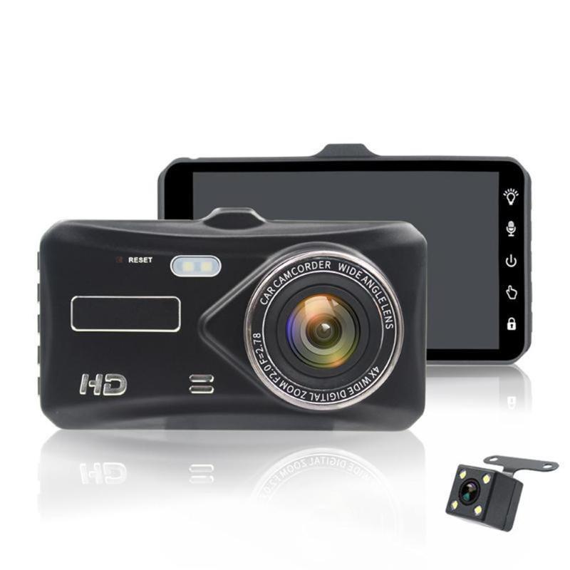 VODOOL 4,0 дюймов ips Сенсорный экран Портативный Видеорегистраторы для автомобилей регистраторы 1080 P HD 170 градусов Двойной объектив видео Регист...
