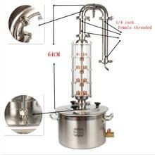 Hohe qualität machen hause destillation ausrüstung alkohol brennerei günstige kits Verkäufe kupfer whisky moonshine noch