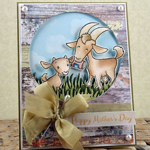 Goat And Little Clear Stamp DIY Scrapbooking Silicone Embossing Stencil Decoration Handicraft Paper Card Making Template