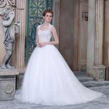HSW5 Wedding Gowns Ball Gown Wedding Dress Queen Anne Neckline See Through  Corset(China) fea8b7bcf286
