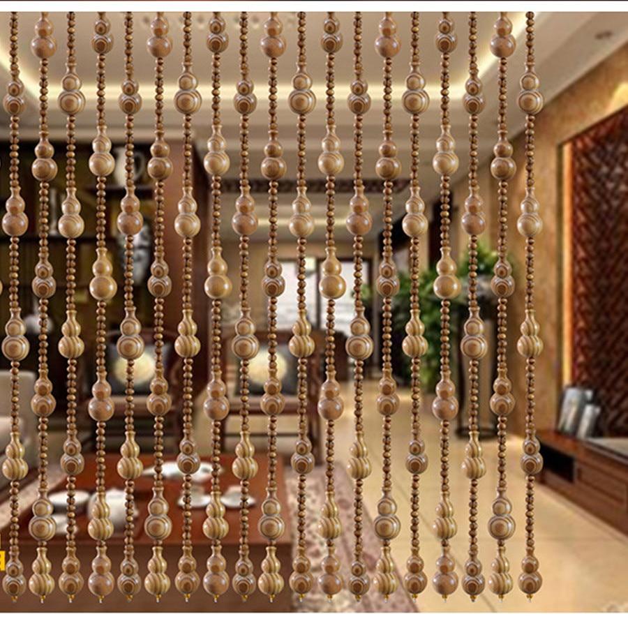 gourde avec perles en bois 10 pieces 10 pieces rideaux de separation decoratifs a motifs de pin porte bonheur feng shui