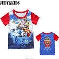 Crianças roupas das meninas dos meninos t-shirt criança robocar poli robô super asas Transformador Anime carros dos desenhos animados cobre t de impressão 3D t camisa