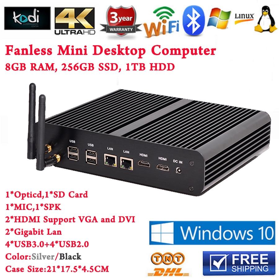 Core i7 5500u Iris 6100 PC 8GB RAM 256GB SSD 1TB HDD Mini PC Computer Desktop