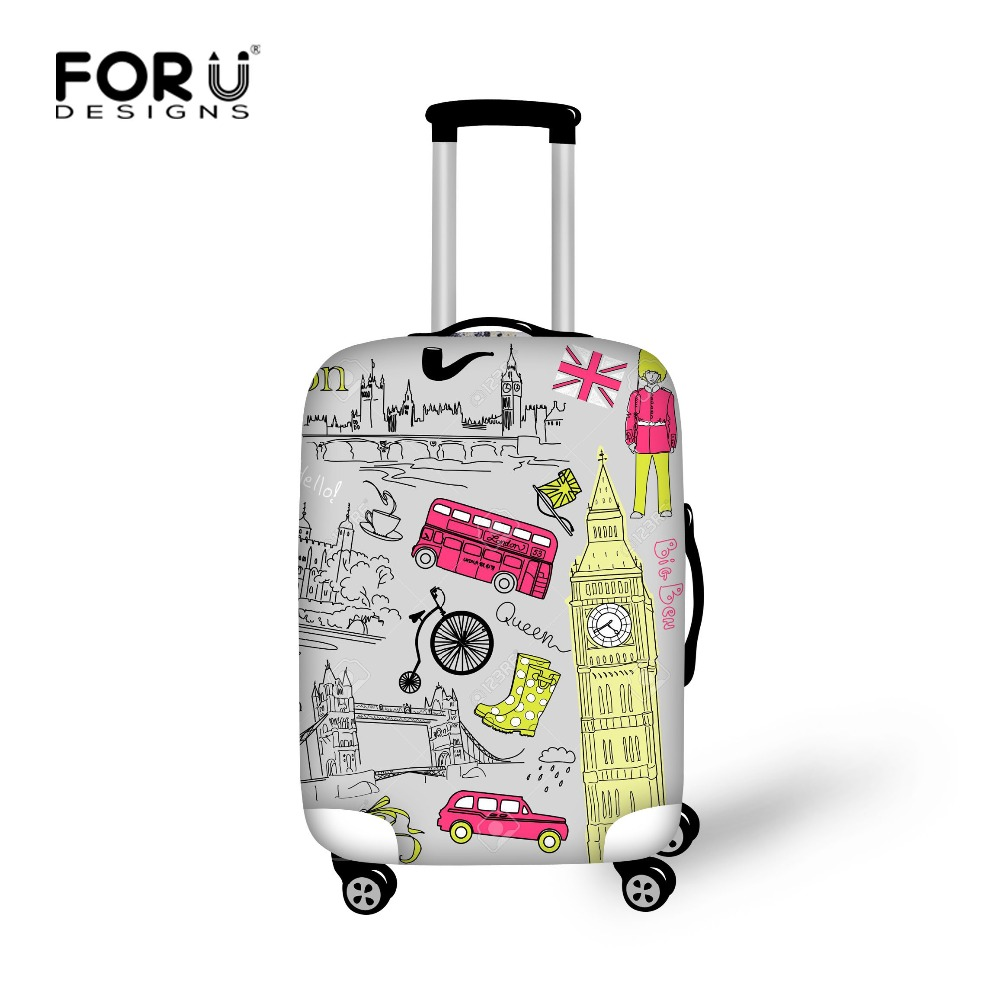 british style print travel luggage cover suitcase trolley case protective covers stretch apply. Black Bedroom Furniture Sets. Home Design Ideas