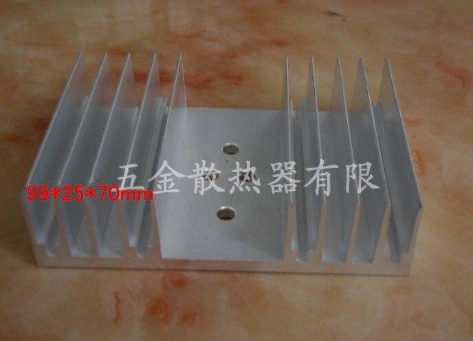 2pcs ElectronicTransistor Radiator 99*25*70mm Power Amplifier Board/power Board Heat Sink/aluminum Alloy Heat Dissipation Block