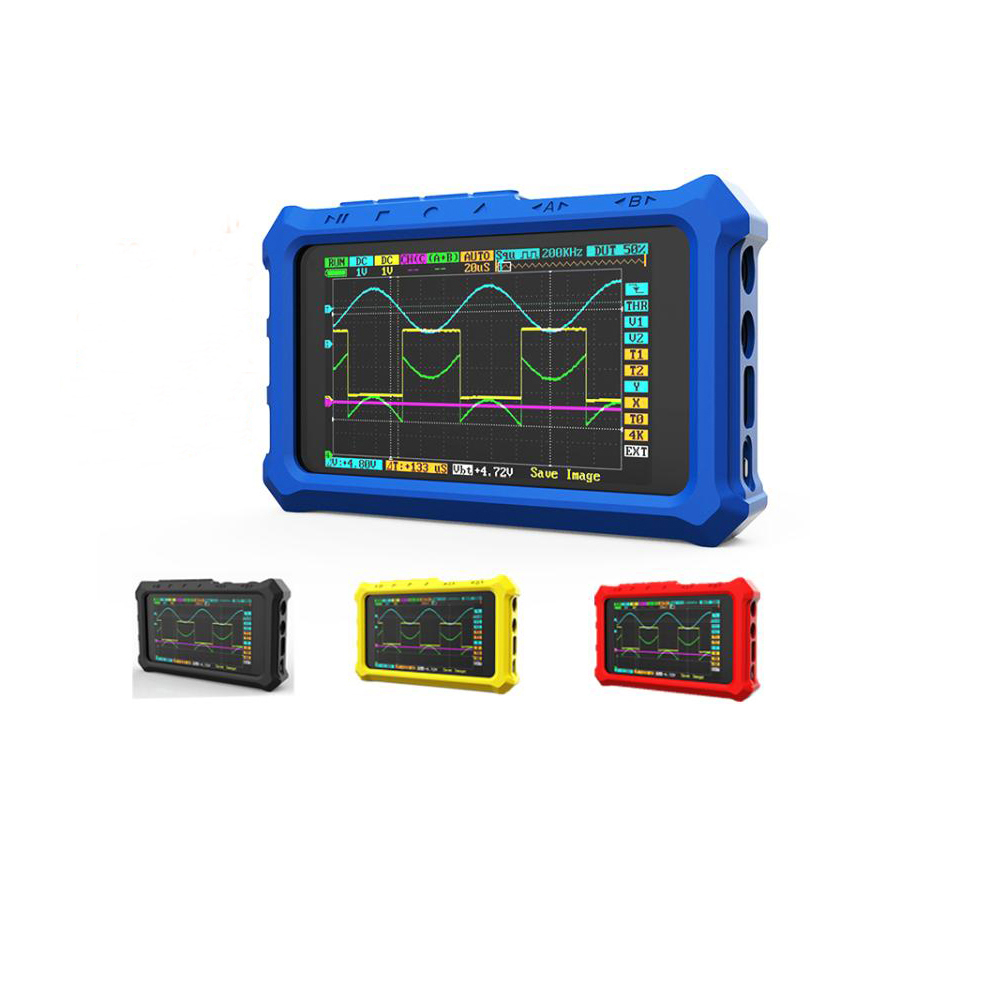 2019 Original <font><b>Mini</b></font> DS213 Case Silicone Protective Case for <font><b>DS203</b></font> DS213 <font><b>Oscilloscope</b></font> Blue Black Red Yellow Case image