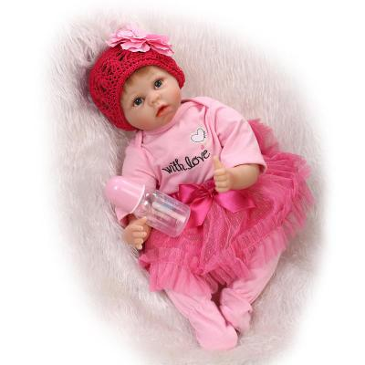 55cm Soft Silicone Reborn Sleeping Baby Doll Lifelike Newborn Alive Baby-Reborn Doll Girl Brinque Bebe Brinquedos 50cm soft body silicone reborn baby doll toy lifelike baby reborn sleeping newborn boy doll kids birthday gift girl brinquedos