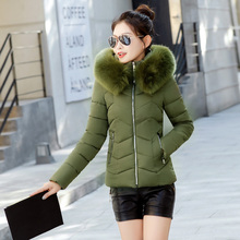 Winter Jacket Women Parkas for Coat Fashion Female Down Jacket With a Hood Large Faux Fur Collar Coat 2018 Autumn high quality thicken zip up down coat with faux fur hood