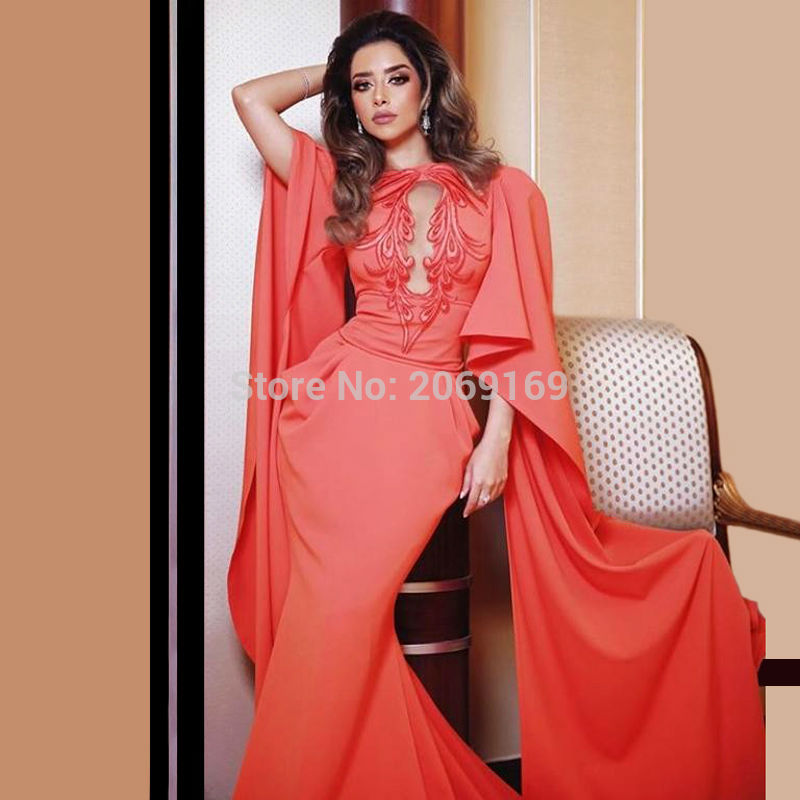2019 Prom Robe Caftan Arabic Long Sleeved Evening Gowns Dresses Ladies Moroccan Kaftan Dress Abaya Designs In Dubai Abendkleider