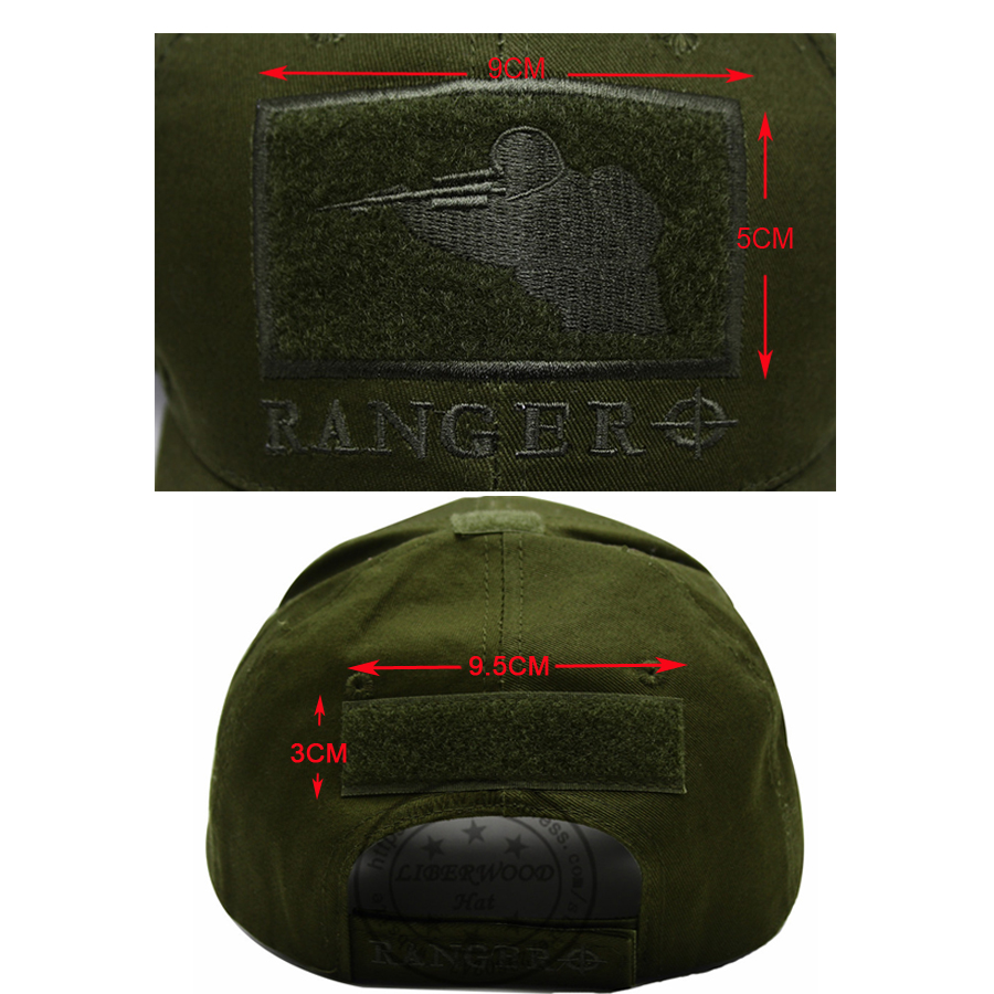 CAPSHOP MultiCam Sniper Ranger 2020 Embroidered Ball Cap Military Army Operator hat Tactical CP OD Cap with Loop for Patch 4