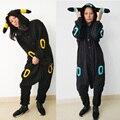 Japan Anime Pokemon Cosplay Shiny Umbreon Costume Adult Unisex Umbreon Hoodies Sweatshirts Jacket Jumpsuits Pajamas Ears Tails