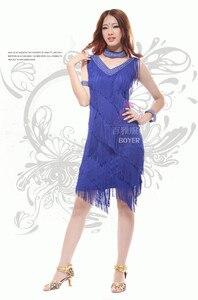 Image 2 - 2019 Vintage Bling Fashion V Neck 1920s Sequin Fringe Charleston Flapper Great Gatsby Stage Dance Clothing Dresses Wear Costumes