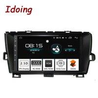 Idoing 9 4 г + 64 Octa Core 1Din автомобиля радио Android 8,0 мультимедийный плеер Fit Toyota Prius gps навигация Авторадио 2.5D ips экран