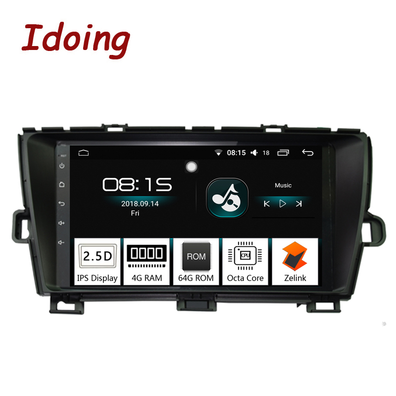 Idoing 94G+64G Octa Core 1Din Car Radio Android 8.0 Multimedia Player Fit Toyota Prius GPS Navigation Autoradio 2.5D IPS Screen