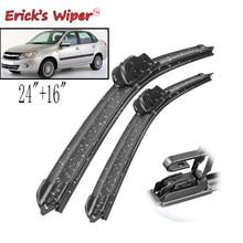 As lâminas de limpador dianteiras de erick lhd para lada granta 2011 2012 2013 pára-brisas janela dianteira 24