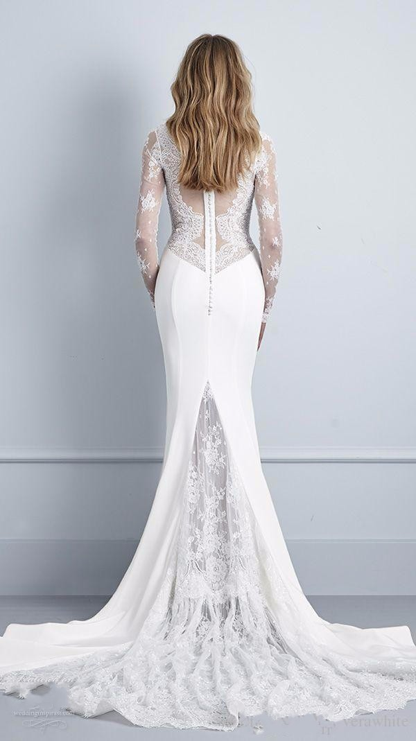5593f35cd6667 Pallas Couture 2016 Full Winter Long Sleeves Mermaid Wedding Dresses ...