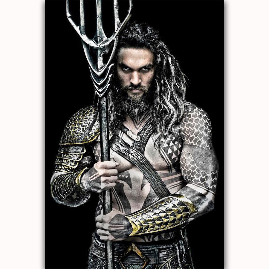 MQ3389 Jason Momoa Aquaman DC Marvel Superhero Movie Film