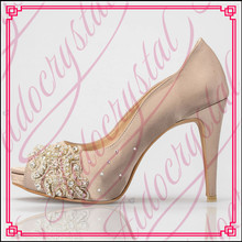 Aidocrystal women pumps wedding shoes Handmade lace white bridal shoes bridesmaid shoes banquet dress shoes