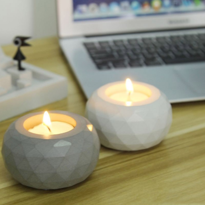 Concrete cement candlestick silicone mold home bar cafe restaurant romantic wedding decorations