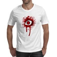 Bloody Sharingan T Shirt Pop Hip Hop Design T-shirt Anime Funny Casual Unisex Tee цена
