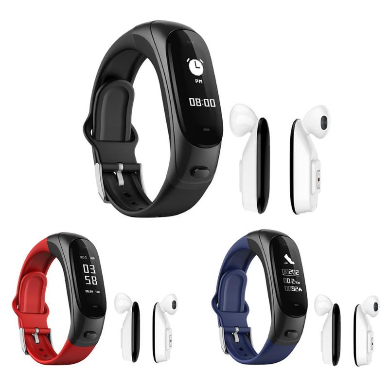 V08 Smart Bracelet Bluetooth Headset Blood Pressure Heart Rate Monitor Pedometer Fitness Tracker Wristband for Android for IOS jimate g16 pedometer smart wristband bluetooth smartband heart rate monitor blood pressure bracelet color screen for ios android