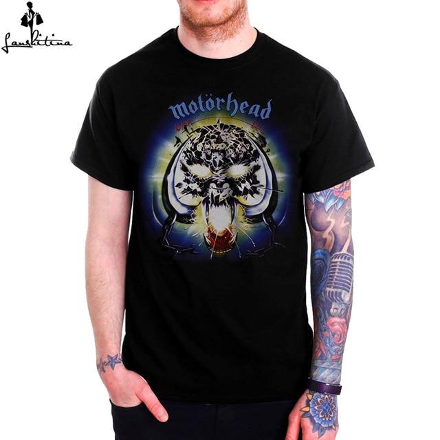 US $19 6 |Fashion Men's T shirt Men Casual Shirt Motorhead OVERKILL Album  Cover Mens Black T Shirt-in T-Shirts from Men's Clothing on Aliexpress com  |