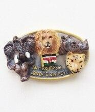 Africa Kenya five tyrants animal tourism souvenir refrigerator stickers