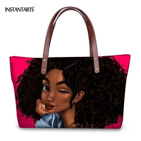 Design de Moda Bolsas para Bolsas de Praia Designer de Marca de Compras do Sexo Instantâneos Africano Rainha Negra Artes Mulheres Grandes Bolsalas Feminino