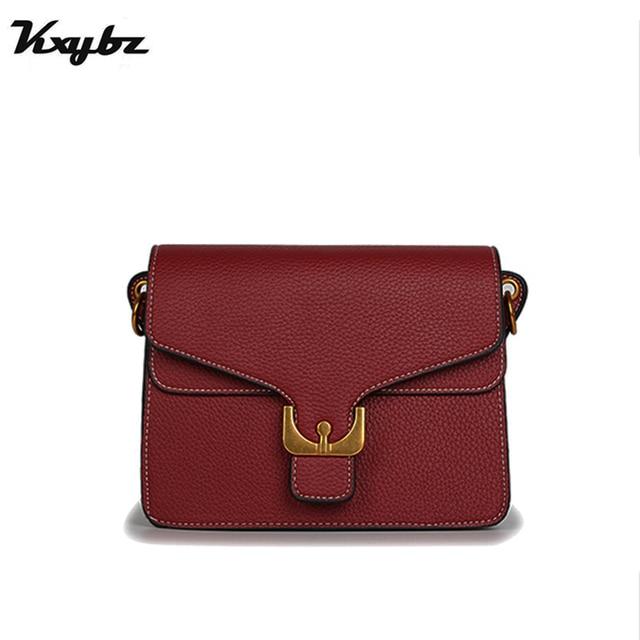 78b8a859c2 KXYBZ 2018 New Women Handbag Litchi Pattern Leather Famous Brands Women Bag  Messenger Bags Bolsos Female