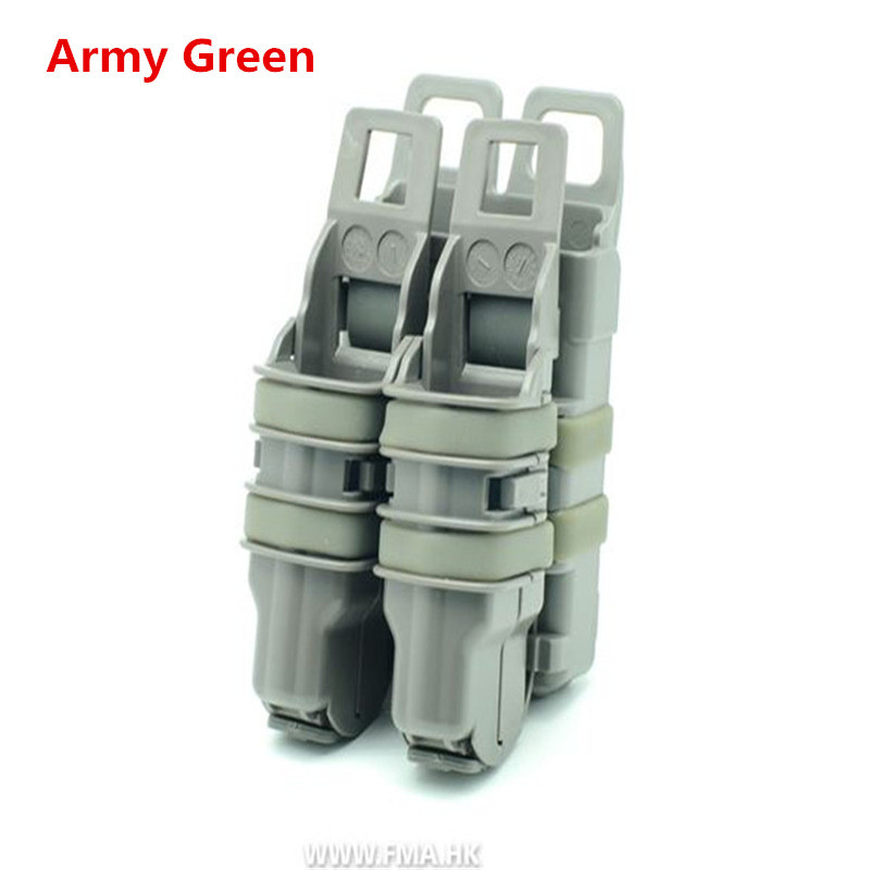 3 Sets of Fastmag gun * 2 * 1 M4 Mag Pouch tactical Military Magazine bags out door CS War Games Equipment Army green color