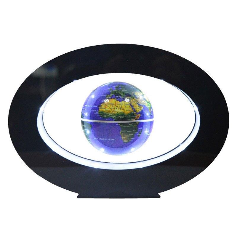 2017 г. Новые новинка украшения магнитной левитации Плавающий Глобусы мира Географические карты с LED электро магнит и поле Сенсор