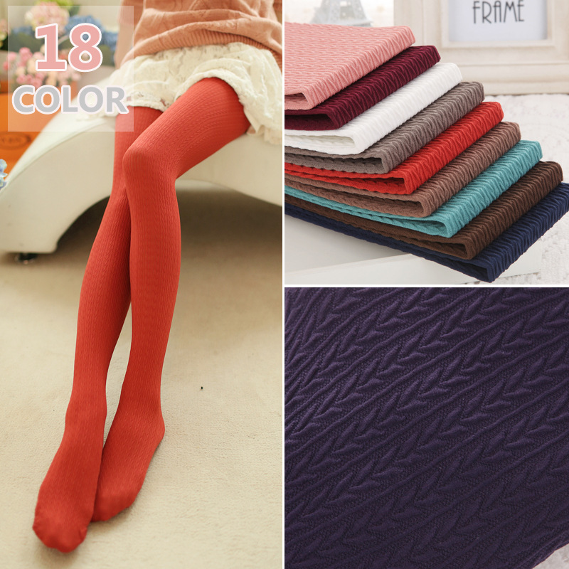 Free Shipping Winter 2018 Hot Selling Velvet 140D Pantyhose Plus SIze Tights High Elastic Women Sexy Tights 18 colors