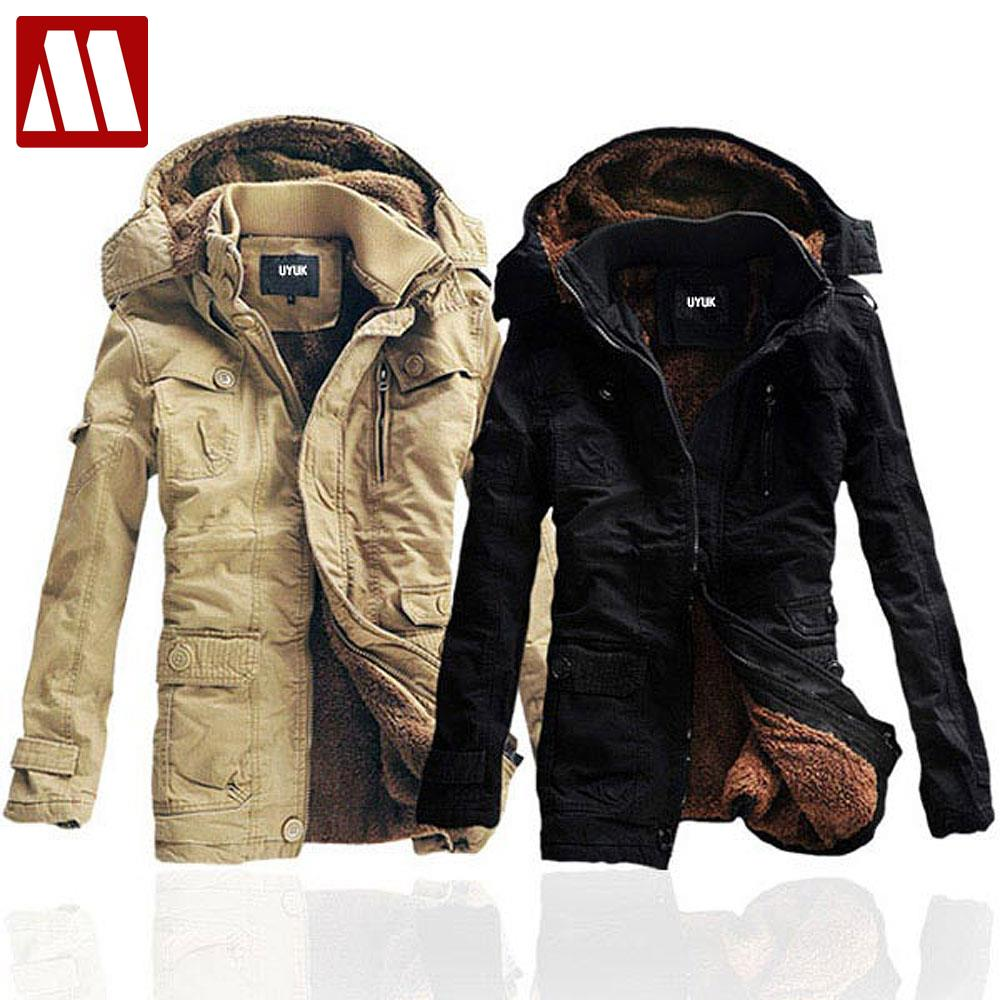 2017 Winter men's cotton coat thick cotton-padded jacket fashion lambs wool overcoat Mens Winter Hoody Jackets Asia S-5XL D046