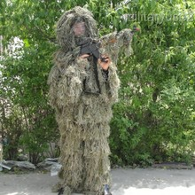 Взрослый 3D Военный камуфляж, лесная местность Снайпер Ghillie костюм& камуфляж джунгли