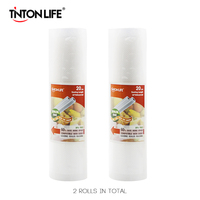 TINTON LIFE 20cm 500cm 2 Rolls Set Vacuum Sealer Storage Bags Grade For Sous Vide And