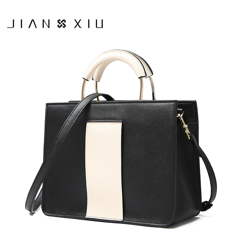 JIANXIU Brand Genuine Leather Women Handbag Cross Pattern Cow Leather Shoulder Bag Fashion Design Top Handle Women Bag 2018 Tote недорго, оригинальная цена