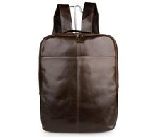лучшая цена Free Ship Unisex Vintage Genuine Leathe Backpack For Teenage School Backpack  # 7280C