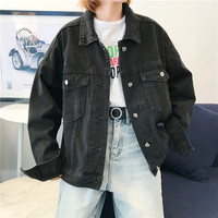 Women Casual Denim Jackets Spring Autumn Single Breasted Washed Fashion Classic Jackets and Coats Women Casual Jean Jacket 2019