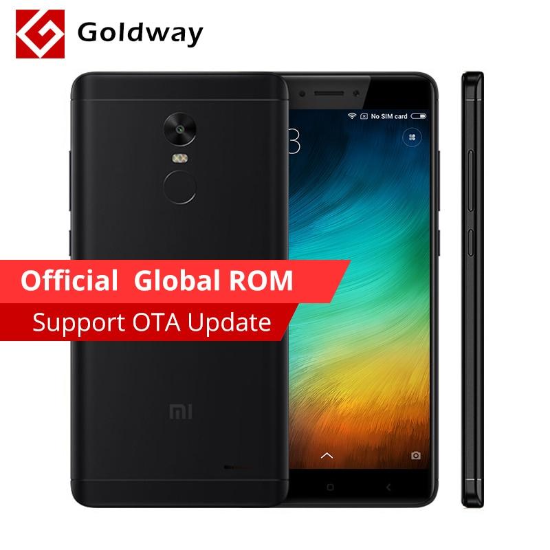 """Оригинальный Xiaomi Redmi Note 4x3 ГБ Оперативная память 16 ГБ 4 х Мобильный телефон Встроенная память Snapdragon 625 Octa core 5.5 """"FHD 13.0mp Камера отпечатков пальцев ID"""