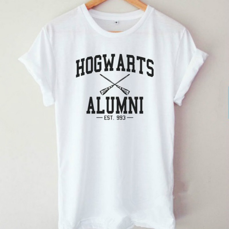 Harry T Shirt Hogwarts Alumni EST 993 Letter Print Women T Shirt Casual Cotton Funny Shirt for Lady Top Tee Hipster