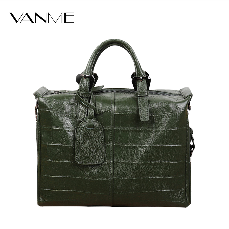 2017 Casual Tote Female Genuine Leather Handbags Soft Skin Green High Quality Shoulder Bag Cowhide Zipper Messenger Bags Satchel simple design cowhide women handbags high quality genuine leather shoulder bags fashion casual small box tote messenger bag 2017