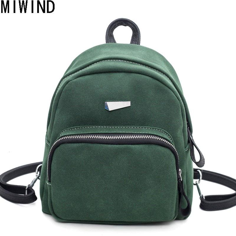 где купить feminina Scrub Leather Backpack Small Women Shoulder Bag Back Pack Backpacks for Teenage Girls Mini Mochila feminine TSL1217 по лучшей цене