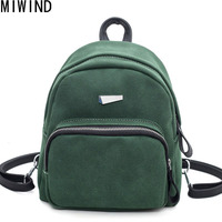feminina Scrub Leather Backpack Small Women Shoulder Bag Back Pack Backpacks for Teenage Girls Mini Mochila feminine TSL1217
