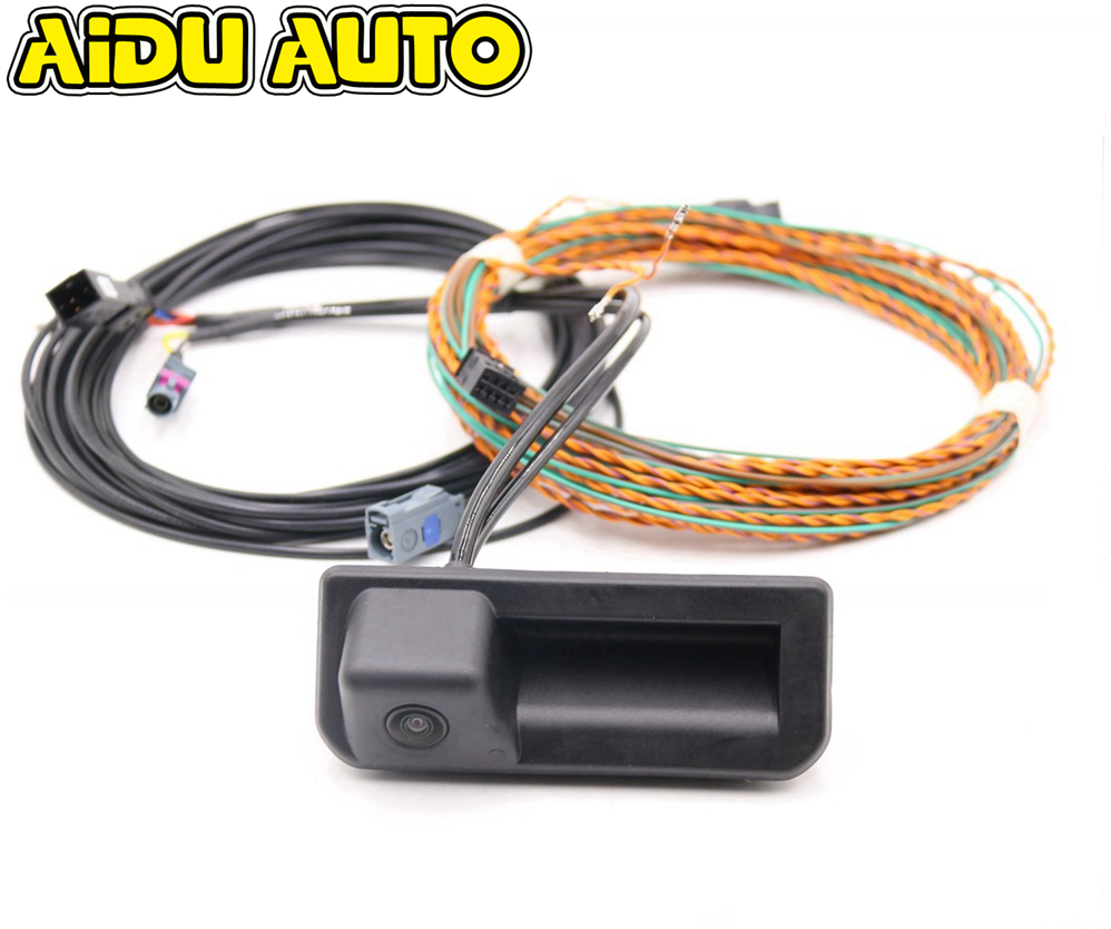 Rear View Camera With Highline Guidance Line Wiring Harness For Audi A5 8w New Q5 Q2