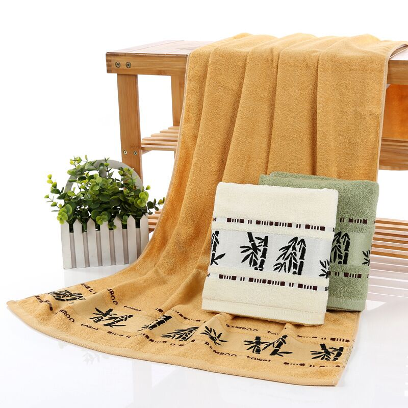 3pcs Designer Organic Bamboo Bath Towels Sets For Adults Decorative Bamboo Fiber Bath Bathroom Towels