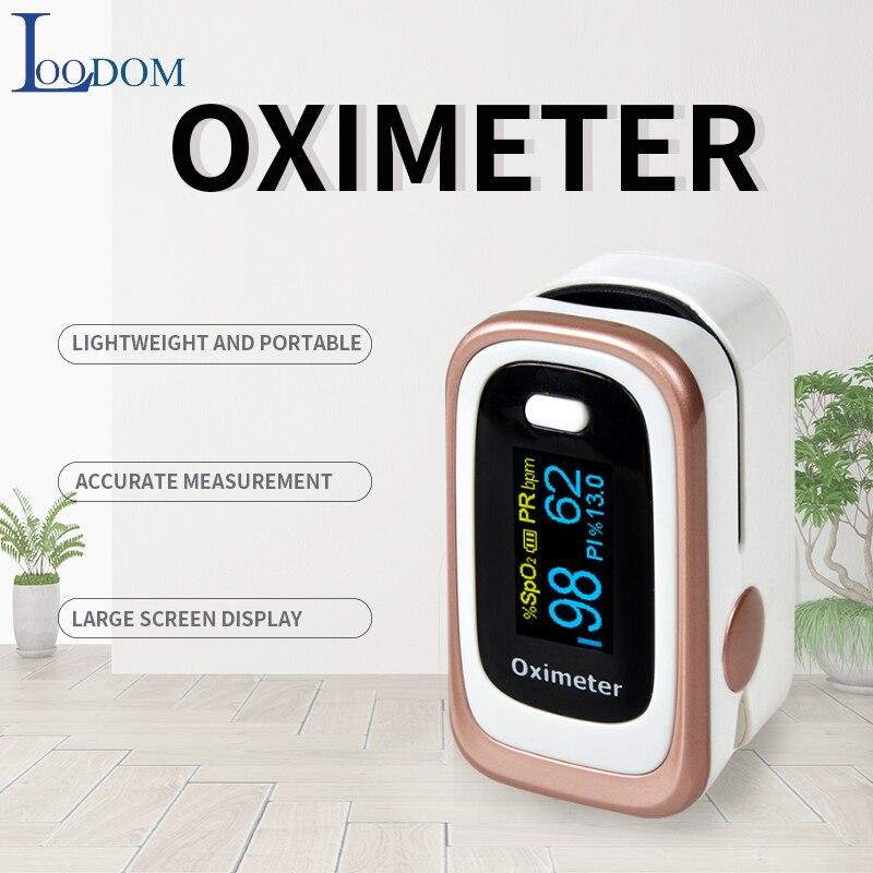 Oxímetros de Pulso Dedo OLED Loodom SPO2, PR, ODI4, PI Oxímetro Da Ponta Do Dedo Oxímetro de pulso Da Ponta Do Dedo Oxímetro de pulso de dedo coração