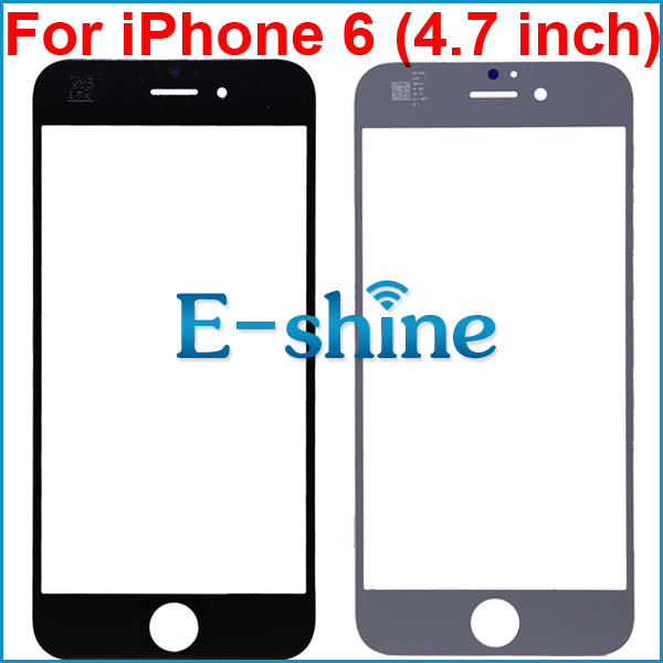 For iPhone 6 6S Touch Screen Out Front Glass Lens Cover Black and White Replacement for  ...